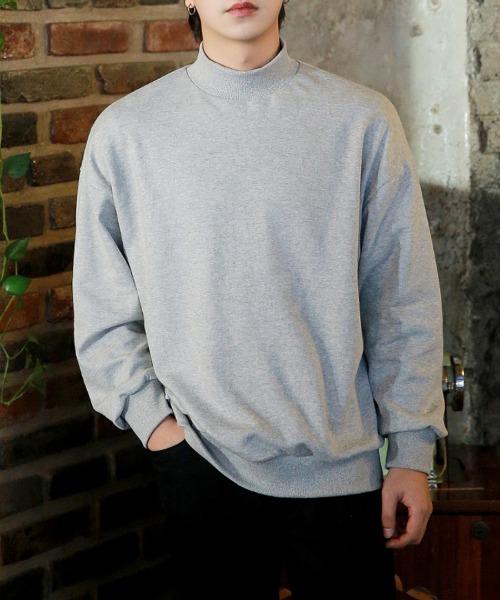 루즈핏 반폴라 맨투맨 티셔츠