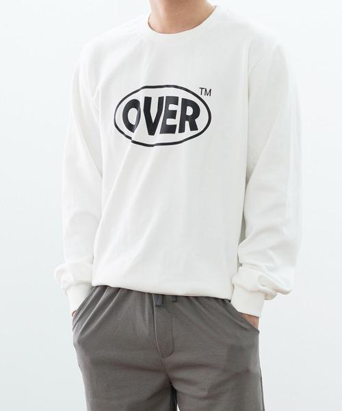 오버 프린팅 맨투맨 티셔츠