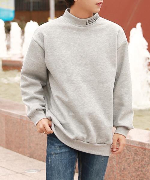 쫀쫀한 레터링 반목 기모 맨투맨 티셔츠