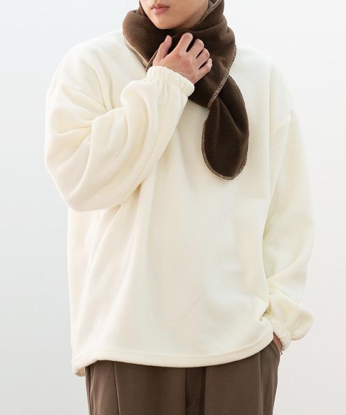 후리스 밴딩 맨투맨 티셔츠