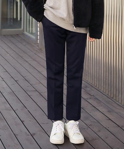 2타입 슬림핏 기모 슬랙스
