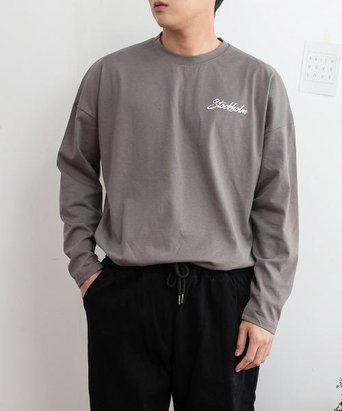 FitUs|前後レタリングプリントTシャツ