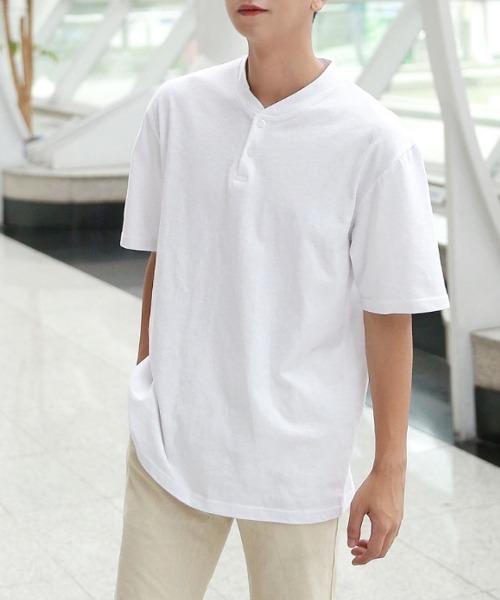 기본 슬라브 반팔 티셔츠