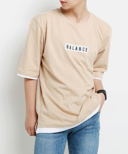 발랜스 레이어드 티셔츠