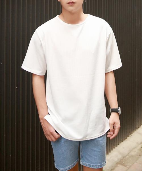 남자 라운드 반팔 티셔츠