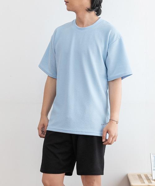 버블 무지 링클프리 반팔 티셔츠