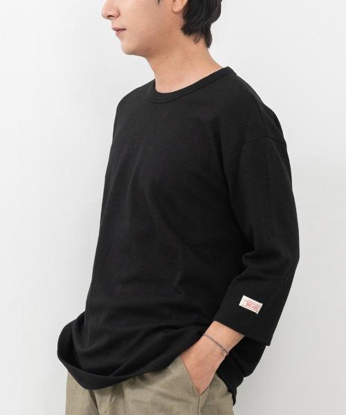 롱바텀 루즈핏 소매 7부 티셔츠