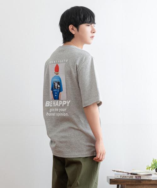 비 해피 반팔 티셔츠