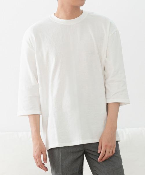 루즈핏 무지 7부 티셔츠