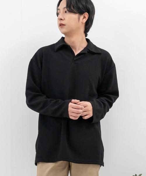 레프닉 긴팔 카라 티셔츠