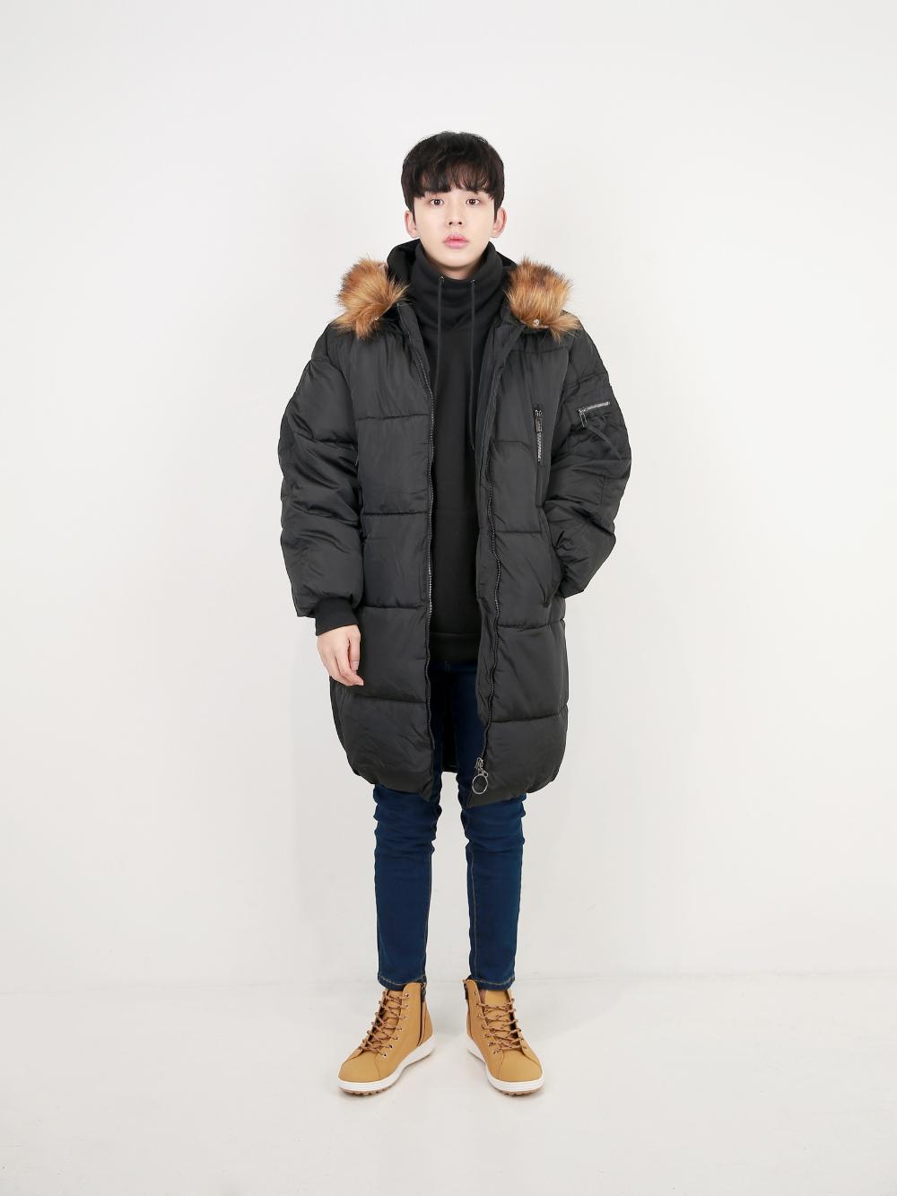 코트 모델 착용 이미지-S15L38