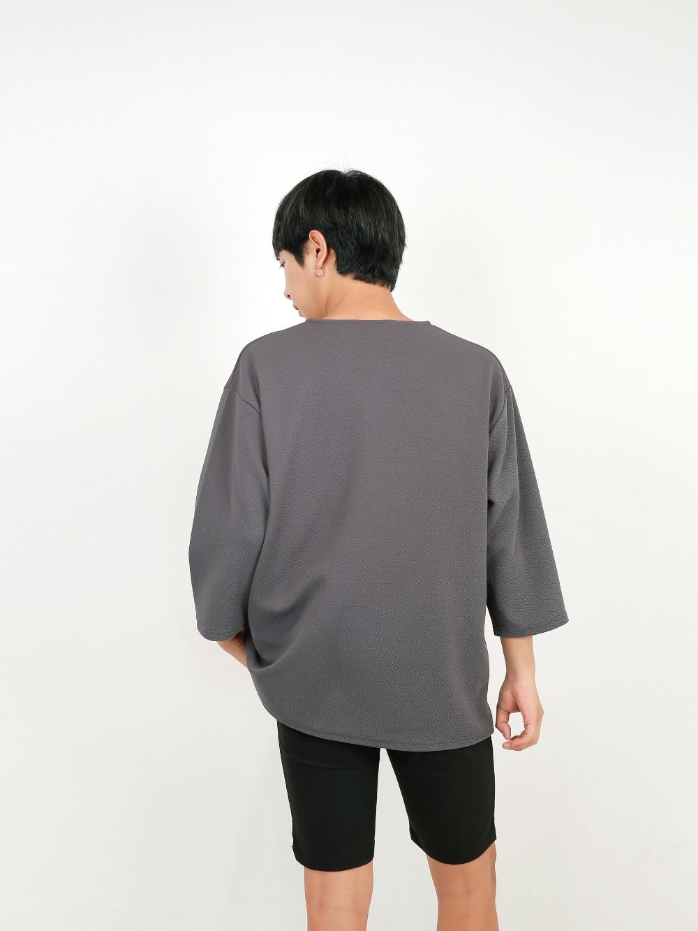 반팔 티셔츠 모델 착용 이미지-S1L56