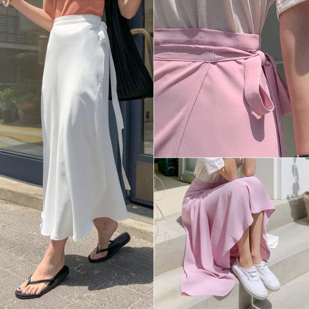 5カラーラップリボンスカート