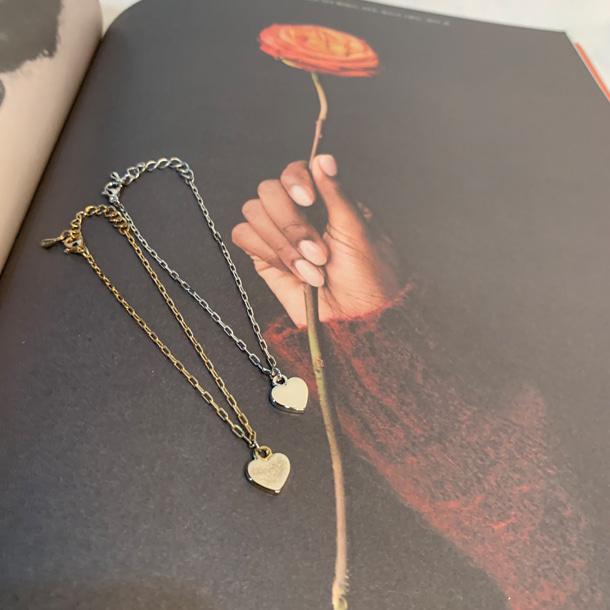 [무료배송] 얇은체인하트_bracelet