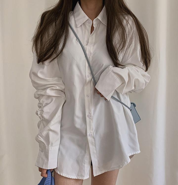 シャーリングスリーブオーバーシャツ