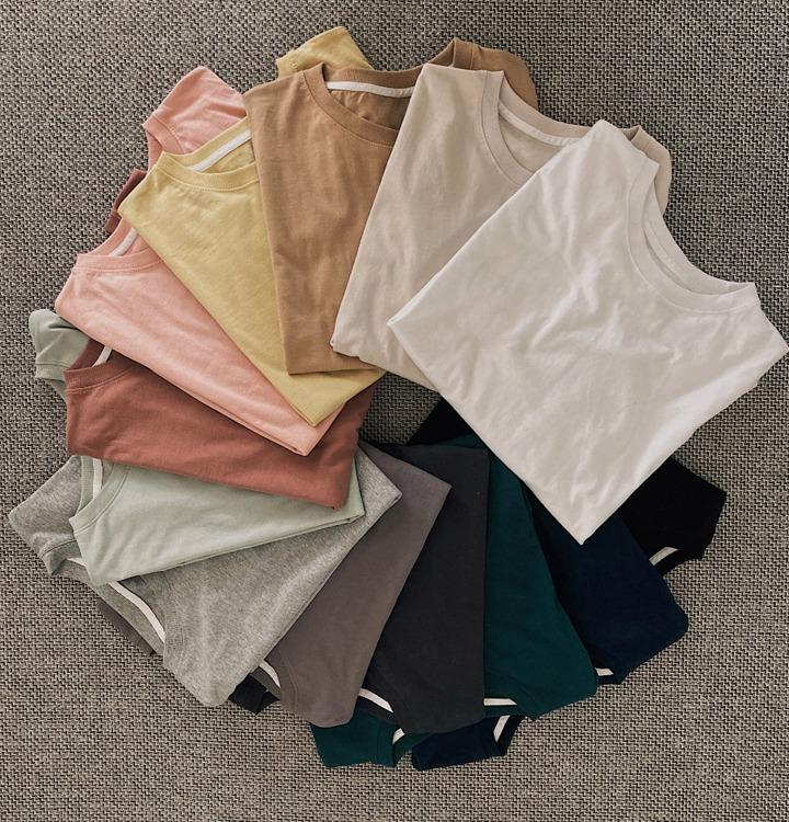 [무료배송/13컬러기획] 탄탄 레이어드 박스 티셔츠 - 13 color