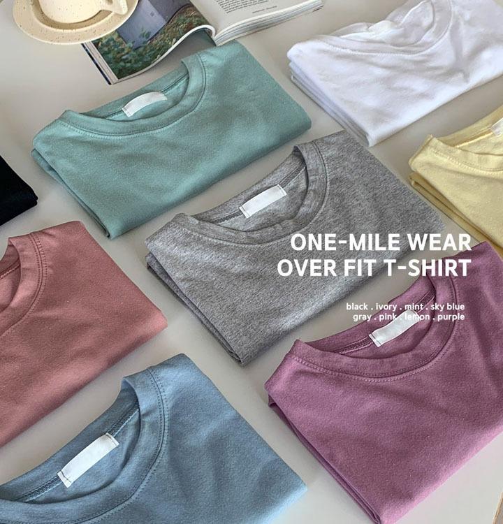 [무료배송/1+1] 원마일웨어 오버핏 티셔츠 - 8 color