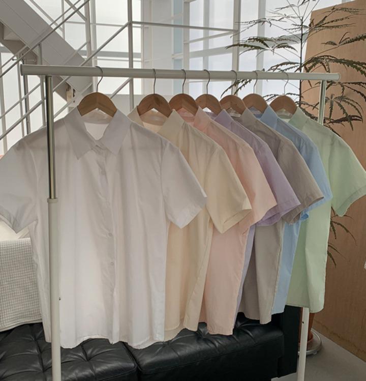 [무료배송] 메이트 루즈핏 반팔 셔츠 - 7 color