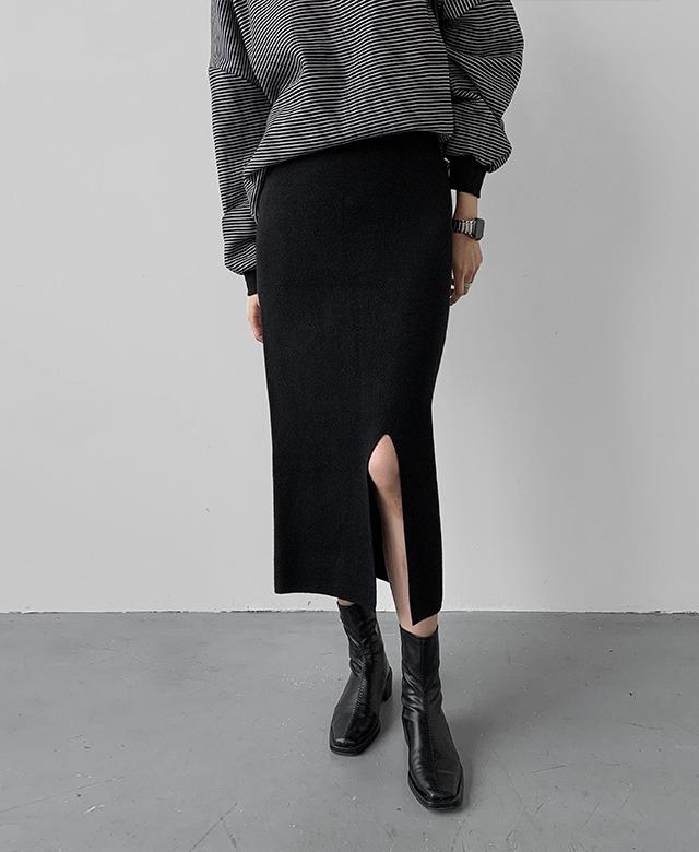 [APS] スリットニットスカート