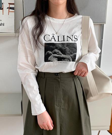 [무료배송] 칼린스 박스핏 티셔츠 - 3 color