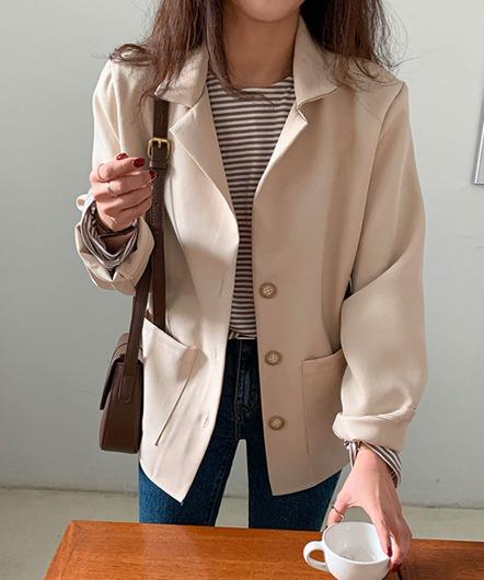 [무료배송] 포멀 베이직 싱글 자켓 - 2 color