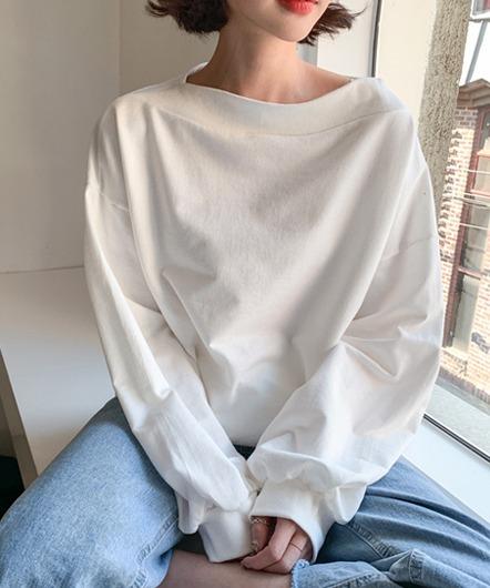ベーシックハーフショルダーTシャツ