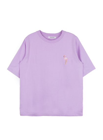 HIDE AND SEEKEmbroidered Flamingo T-Shirt