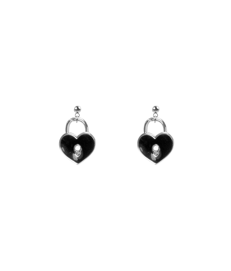 Heart Lock Earrings