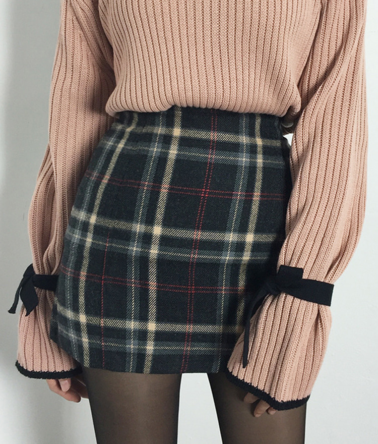 Plaid High-Waisted Mini Skirt