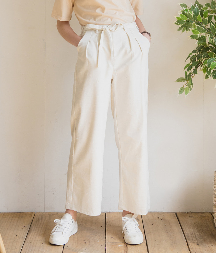 ESSAYTie-Waist Cotton Pants