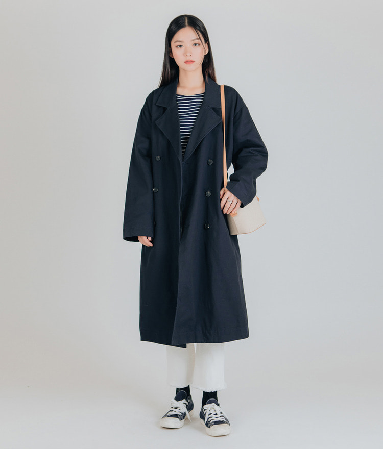 ESSAYOversized Long Trench Coat
