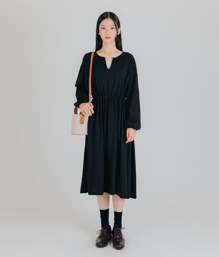 ESSAYDrawstring Midi Dress