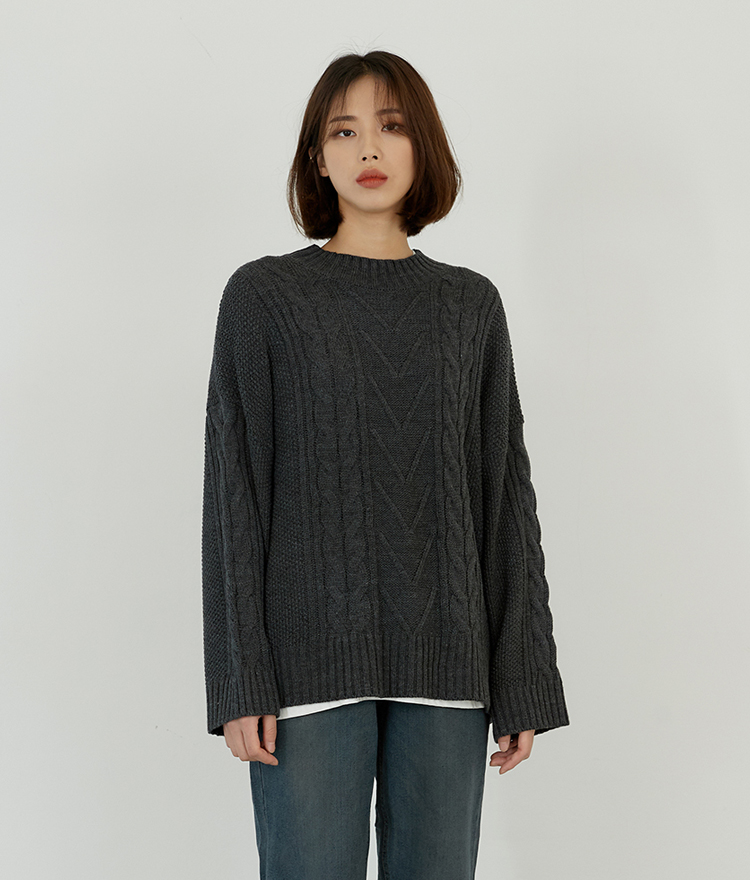 ESSAYMixed Pattern Knit Sweater