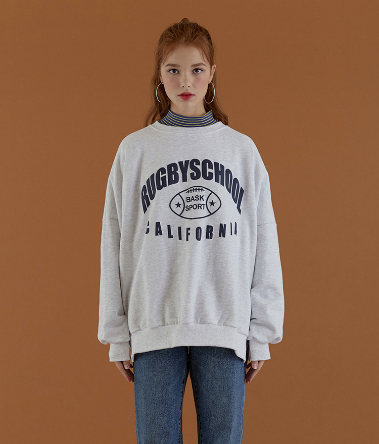 NEVERM!ND Loose Lettering Print Sweatshirt