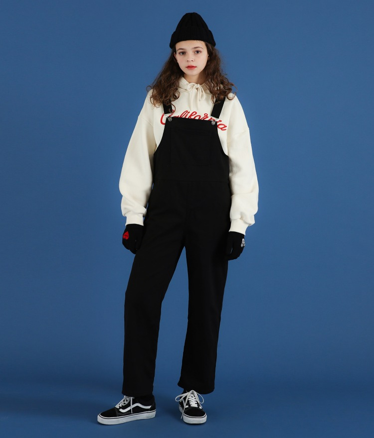 NEVERM!NDBlack Straight Cut Overalls