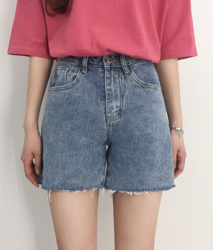 NEVERM!NDFrayed Hem Denim Shorts