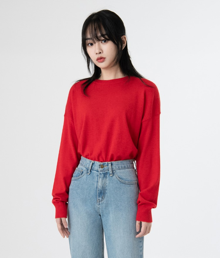ESSAYBasic Cashmere Blend Knit Top