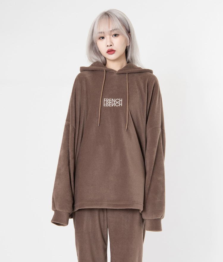 NEVERM!NDFRENCH Embroidery Loose Fit Hoodie