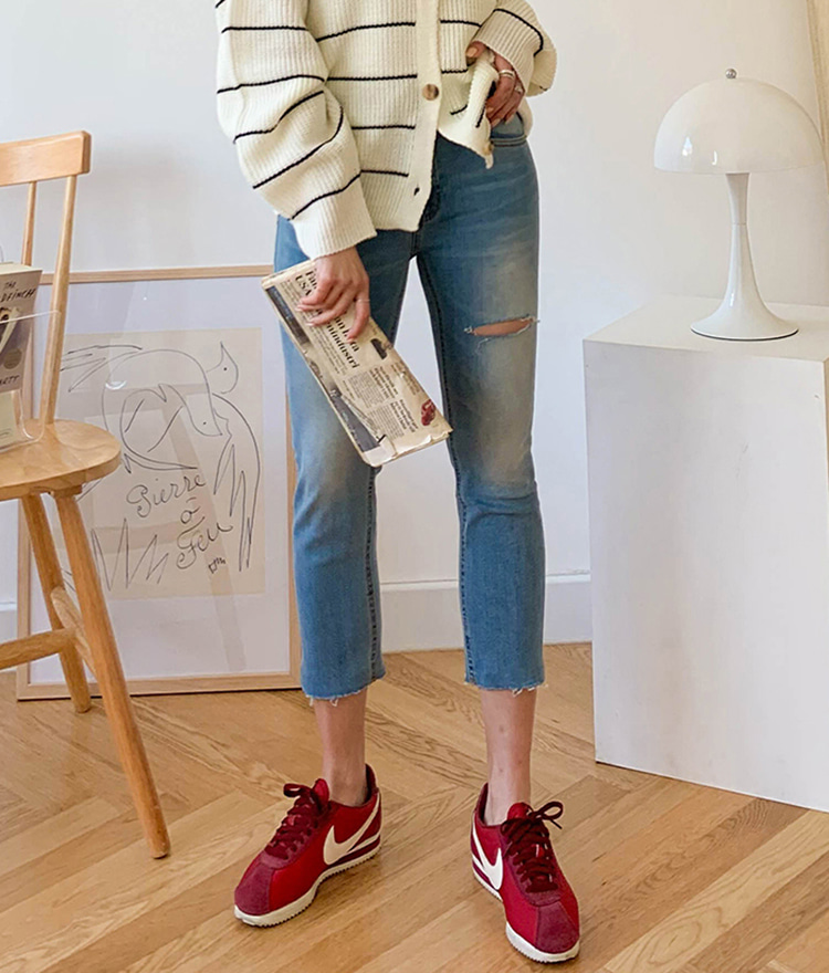NEVERM!NDWhiskered Cropped Slim Jeans