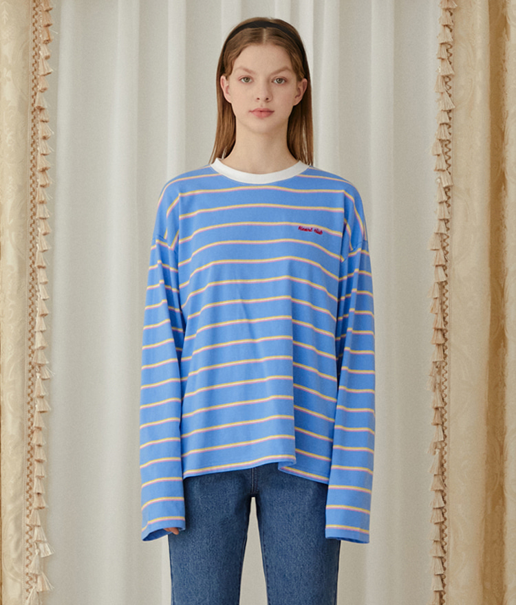 HEART CLUBExtended Sleeve Striped T-Shirt