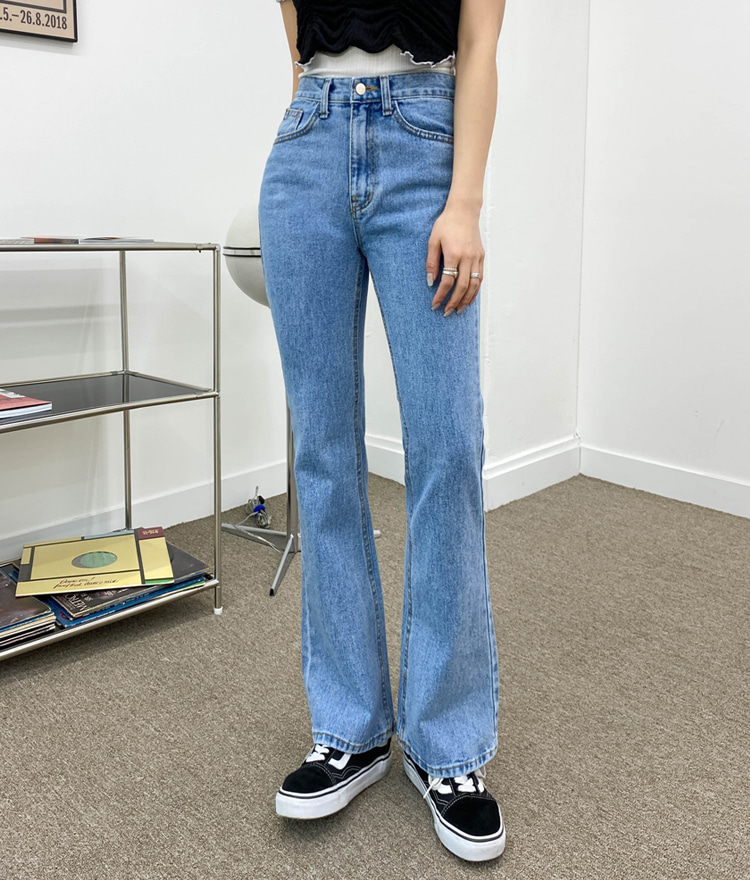 QUIETLABHigh Waist Bootcut Denim Pants