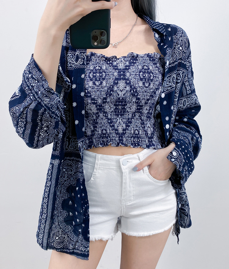 QUIETLABPaisley Print Loose Shirt