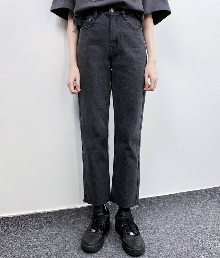 NEVERM!NDBlack Straight Cut Denim Pants