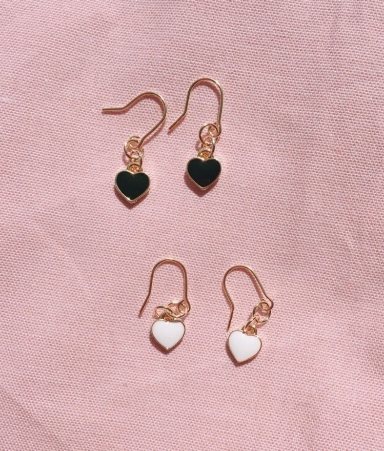 Mini Heart Hook Earrings