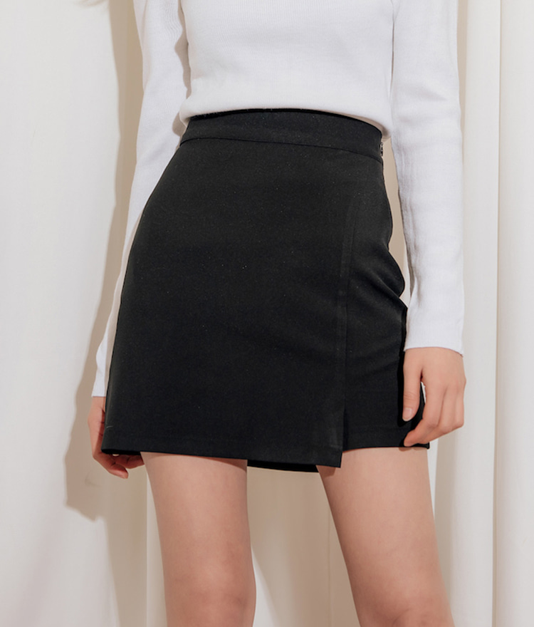 QUIETLABFaux Wrap High Waist Mini Skirt