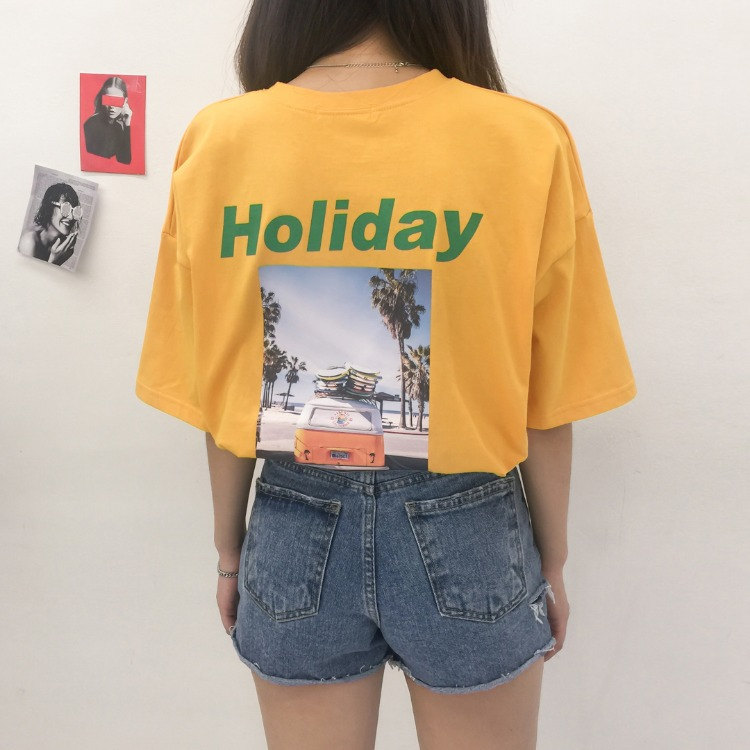 NEVERM!NDHOLIDAY Print Oversized T-Shirt