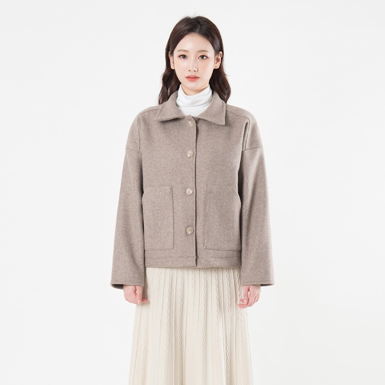 Spread Collar Boxy Jacket