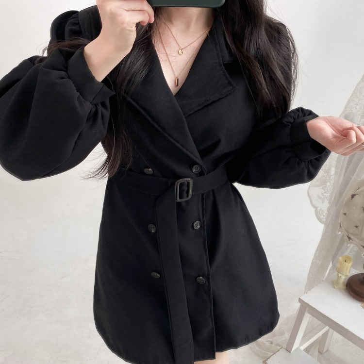 ROMANTIC MUSEBelted Dress Coat