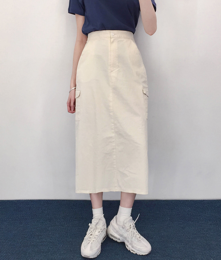 QUIETLABCargo Pocket Semi-Elastic Waist Skirt