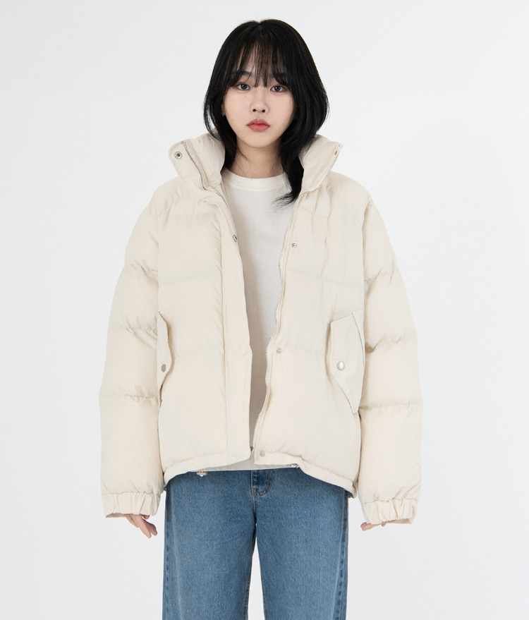 NEVERM!NDHigh Neck Puffer Jacket